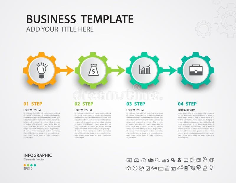 Molde do vetor do projeto de Infographics, o espa?o temporal, carta de processo, apresenta??o, diagrama, conceito criativo para i ilustração do vetor