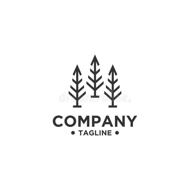 Molde do vetor do projeto do logotipo da árvore ilustração stock