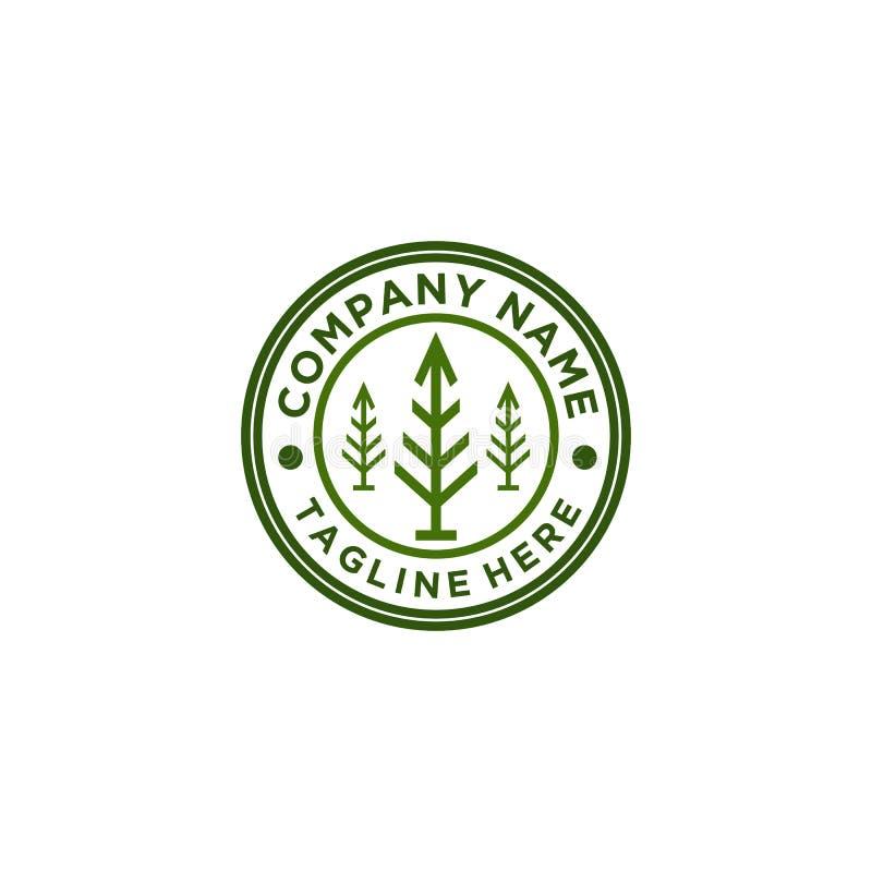 Molde do vetor do projeto do logotipo da árvore ilustração royalty free