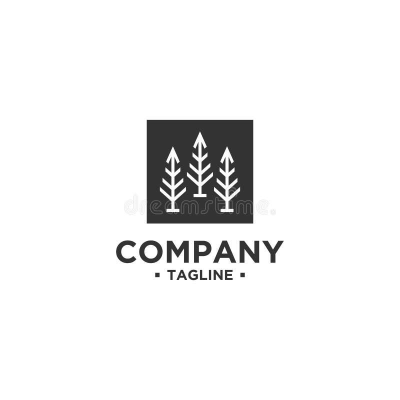 Molde do vetor do projeto do logotipo da árvore ilustração do vetor