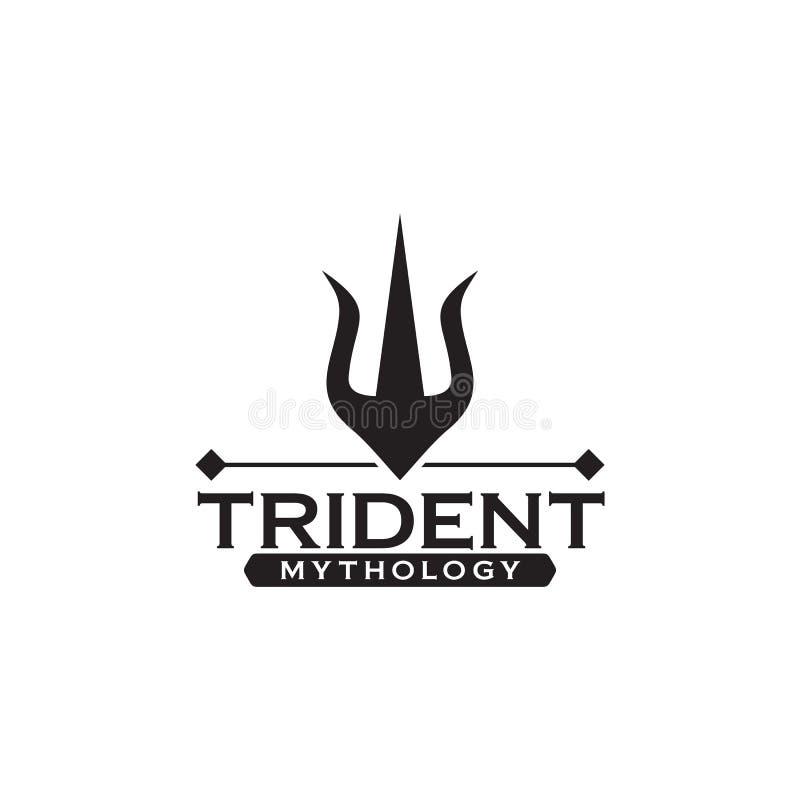 Molde do vetor do projeto do logotipo de Trident ilustração do vetor