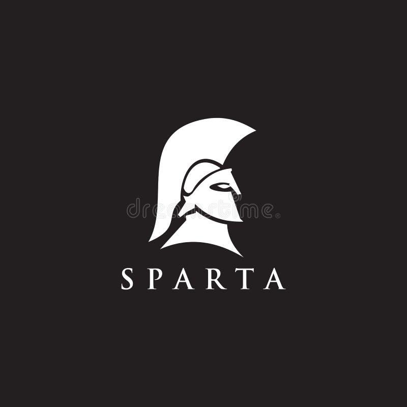 Molde do vetor do projeto do logotipo do guerreiro de Sparta ilustração stock