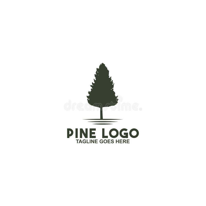Molde do vetor do projeto do logotipo do pinheiro ilustração do vetor