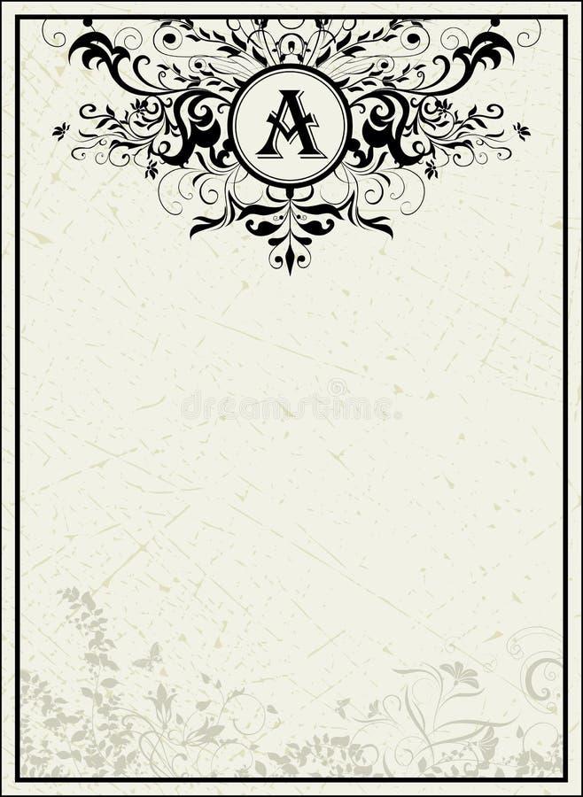 Molde do vintage ilustração do vetor
