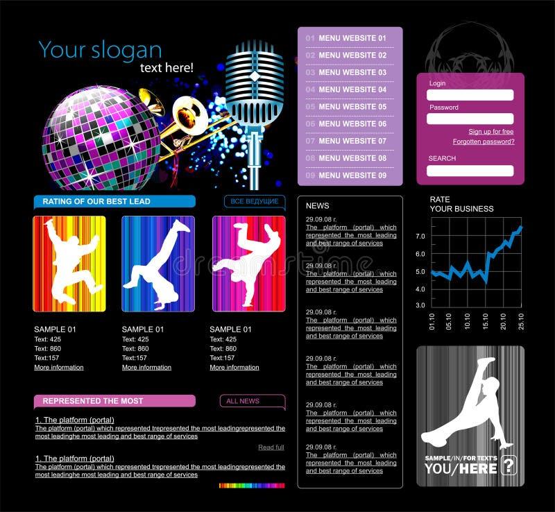 Molde do Web site,   ilustração royalty free