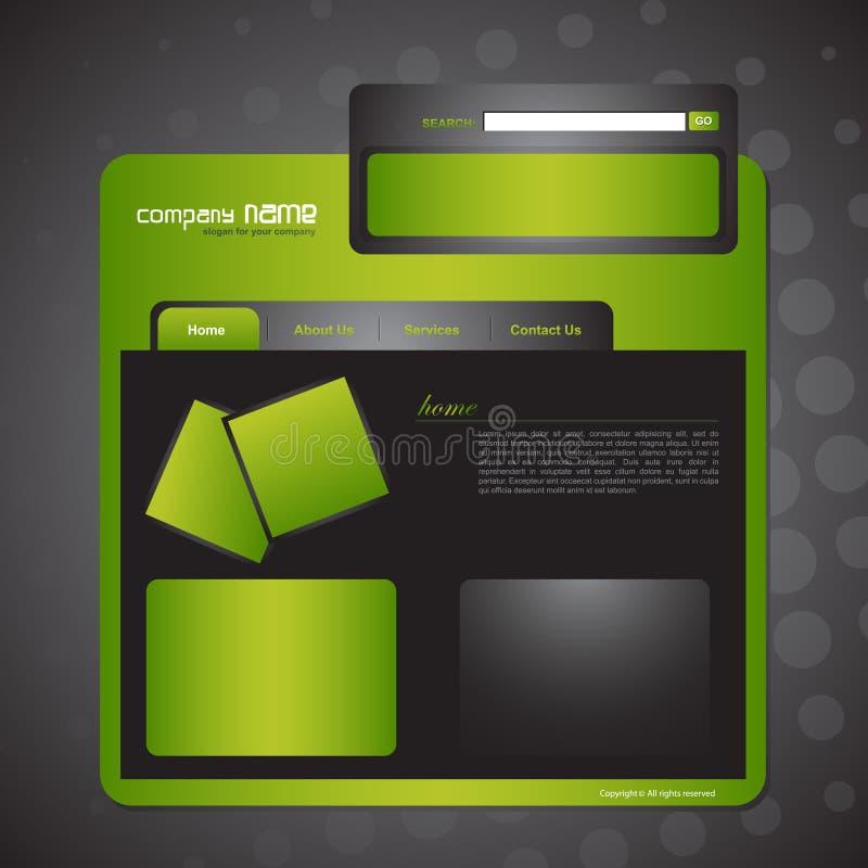 Molde do Web site ilustração stock