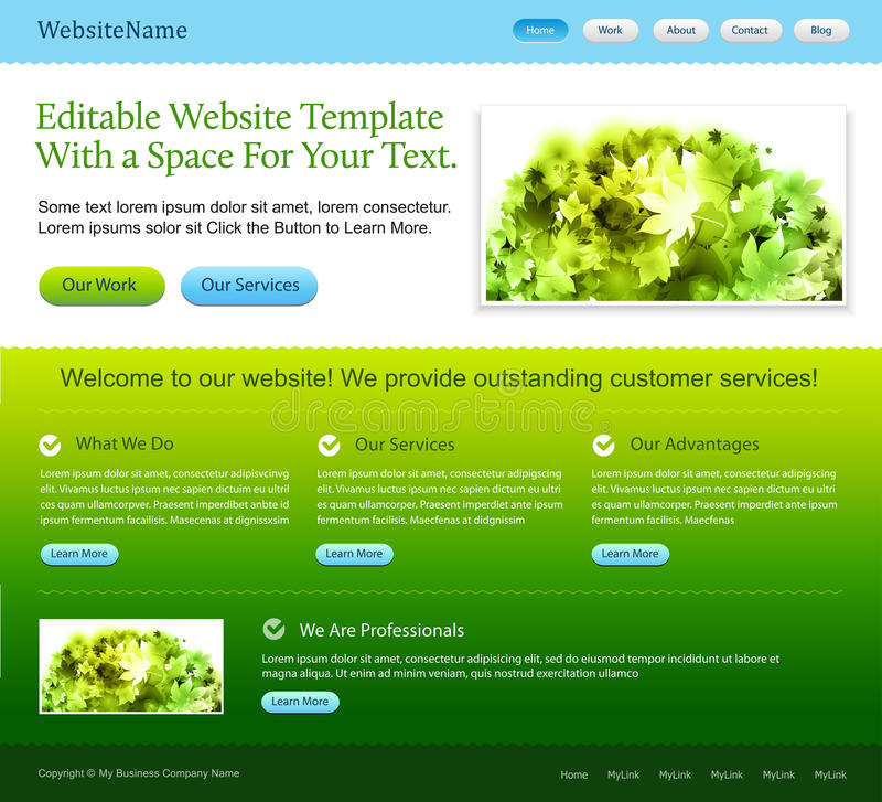 Molde do Web site ilustração do vetor