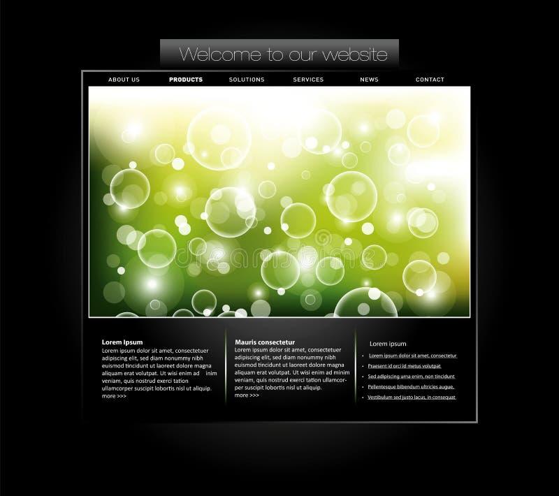 Molde do Web site com bandeira borbulhada ilustração stock