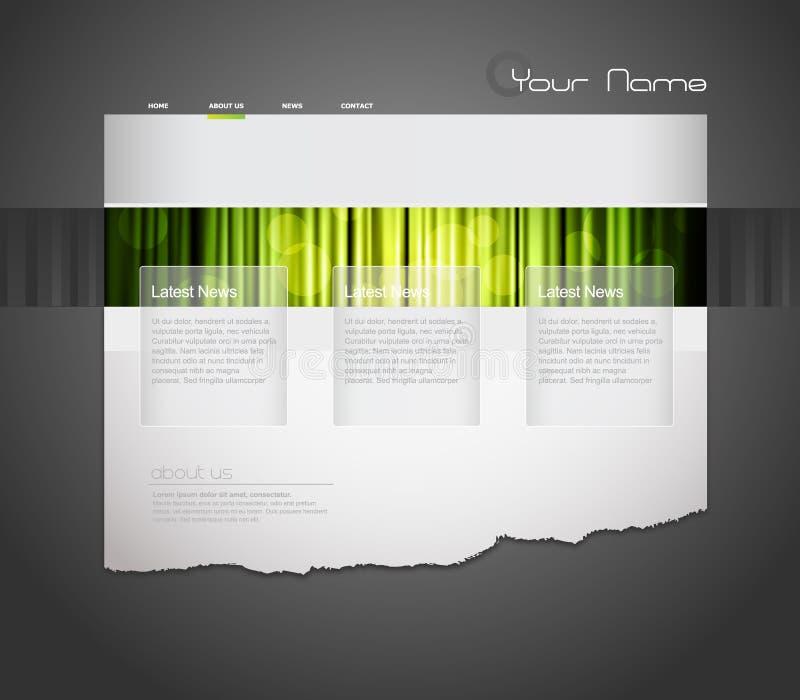 Molde do Web site com cortina alaranjada. ilustração royalty free