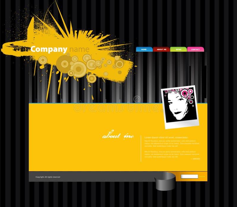 Molde do Web site com foto. ilustração stock