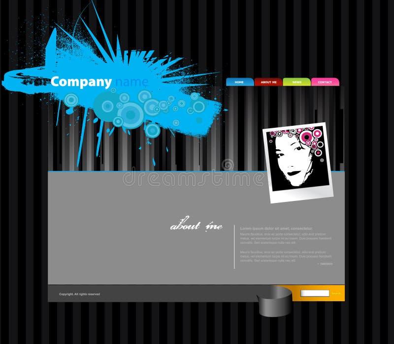 Molde do Web site com listras. ilustração do vetor