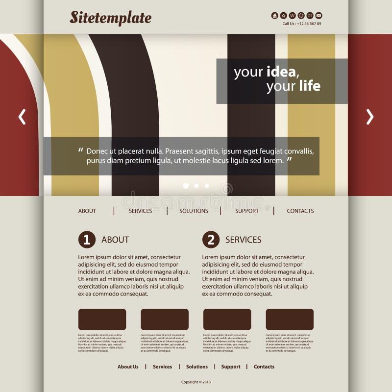 Molde do Web site com projeto abstrato do encabeçamento - barras e curvas coloridas ilustração royalty free
