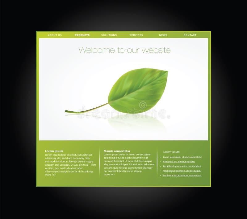 Molde do Web site da ecologia ilustração stock
