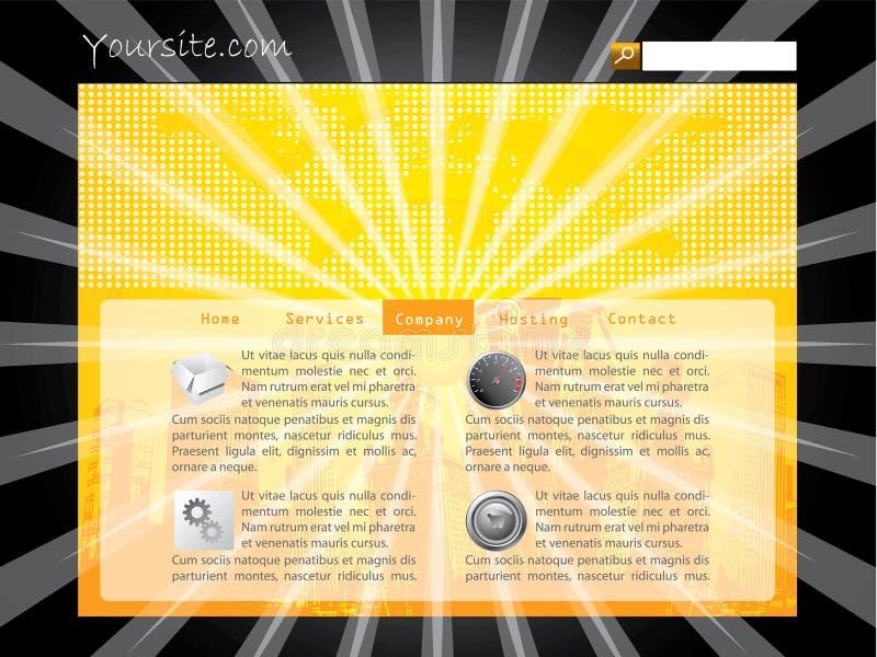 Molde do Web site do estouro ilustração do vetor