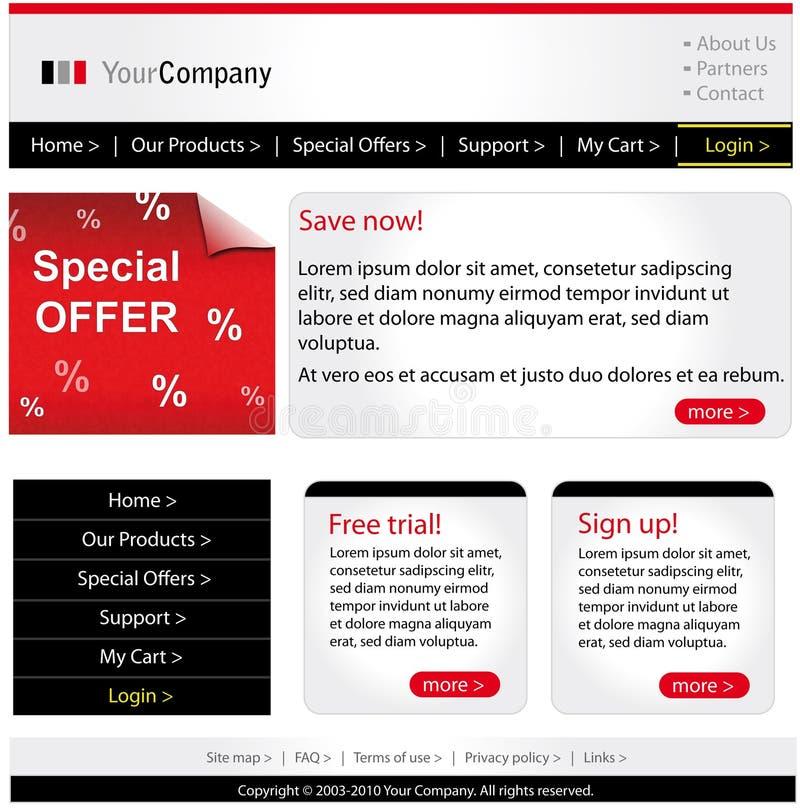 Molde do Web site do negócio ilustração stock