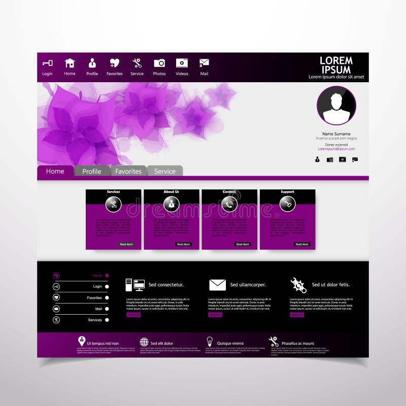 Molde do Web site para belezas ilustração do vetor