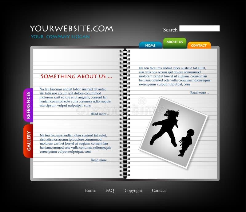 Molde do Web site, vetor ilustração do vetor
