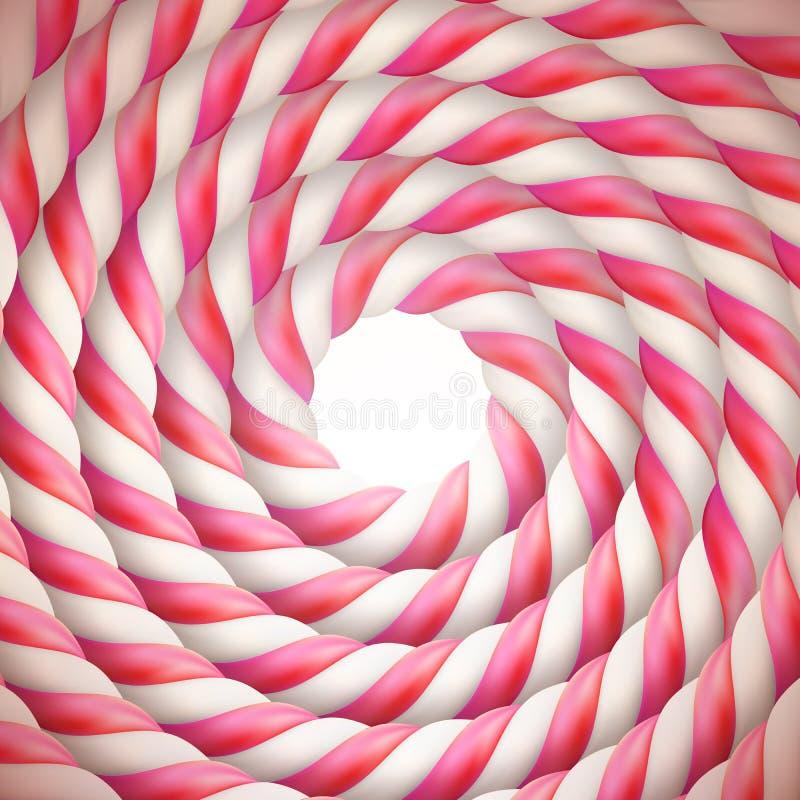 Molde doce cor-de-rosa redondo dos doces Eps 10 ilustração stock