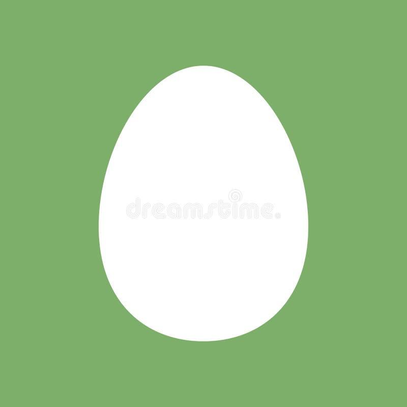 Molde dos ovos para easter pictogram S?mbolo crist?o Molde de Easter Alimento S?mbolo, ?cone, artigos de papelaria isolados do te ilustração stock