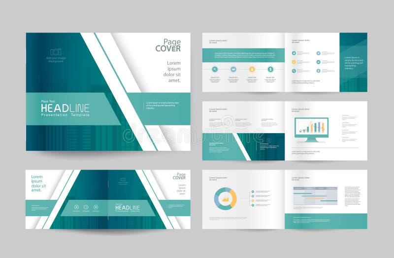 Molde e disposição de página do projeto do folheto do negócio para o perfil da empresa ilustração do vetor