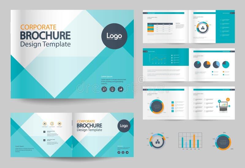 Molde e disposição de página do projeto do folheto do negócio para o perfil da empresa foto de stock royalty free