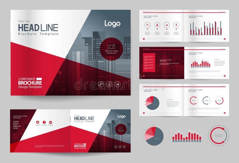 Molde e disposição de página do projeto do folheto do negócio para o perfil da empresa, informe anual, ilustração do vetor