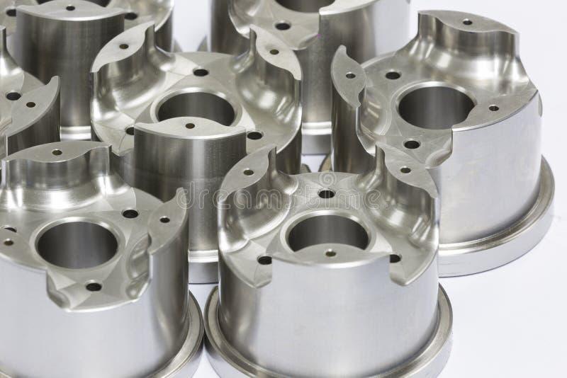 Molde e morra as peças que fazem à máquina pelo CNC fotografia de stock royalty free
