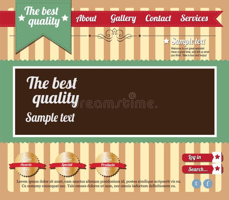 Molde Editable do Web site ilustração royalty free