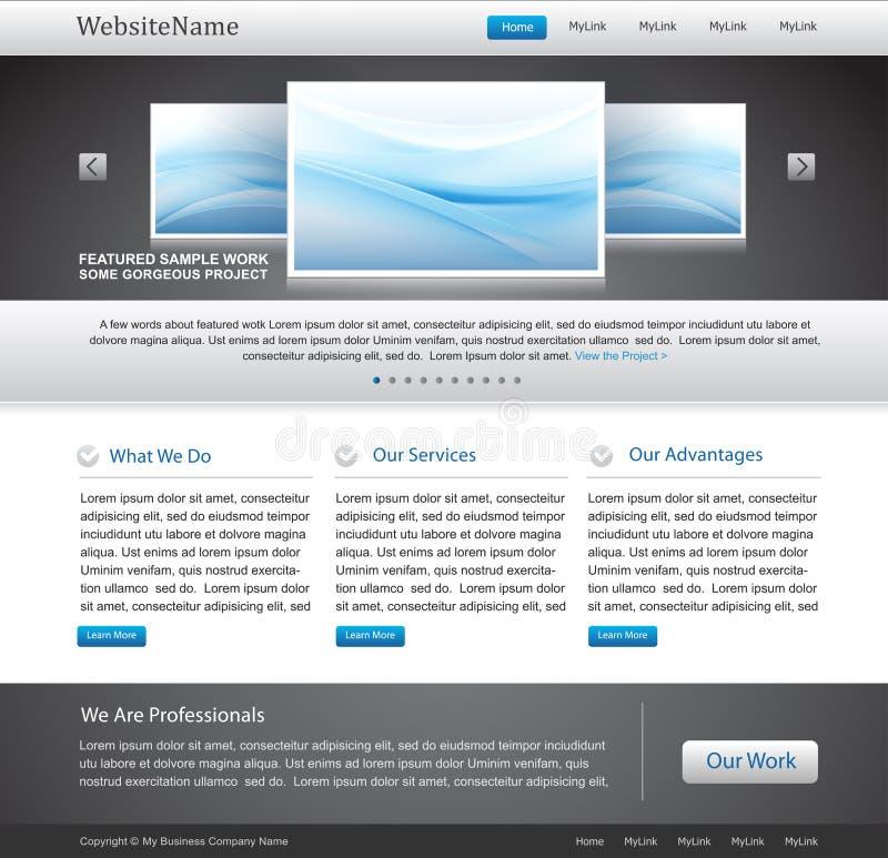 Molde Editable do Web site do negócio ilustração do vetor