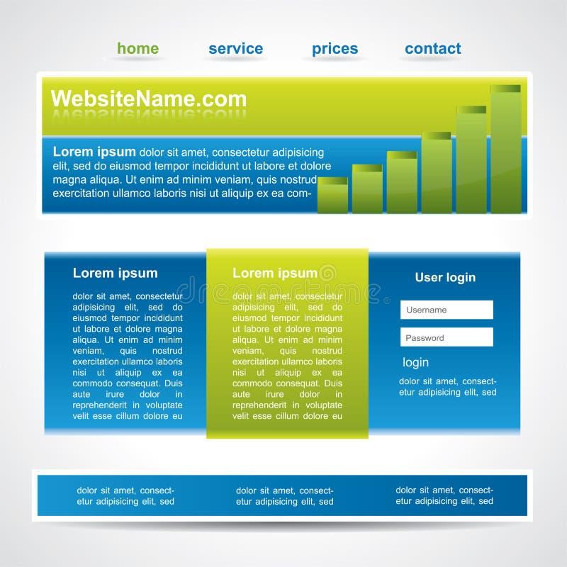 Molde editable moderno do Web site ilustração stock