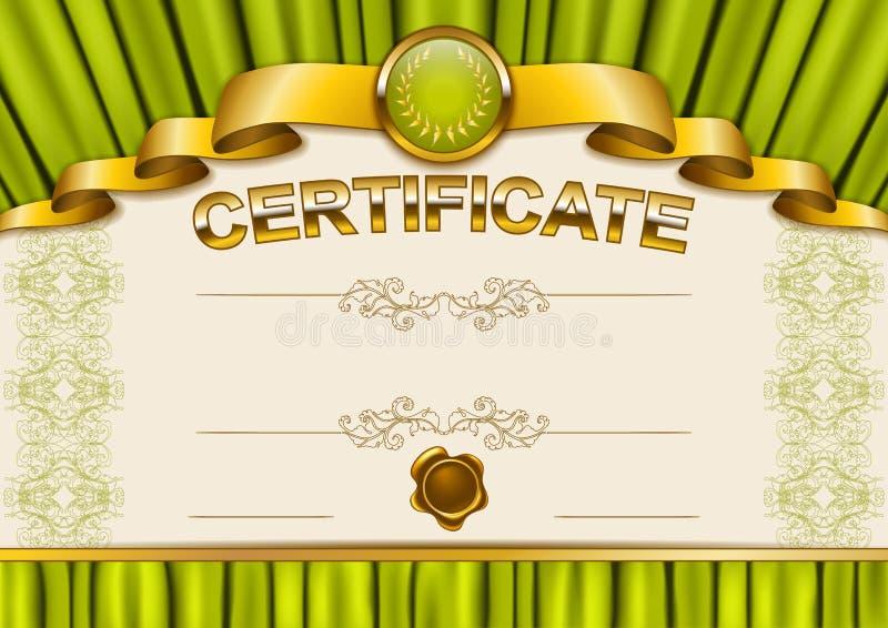 Molde elegante do certificado, diploma ilustração stock