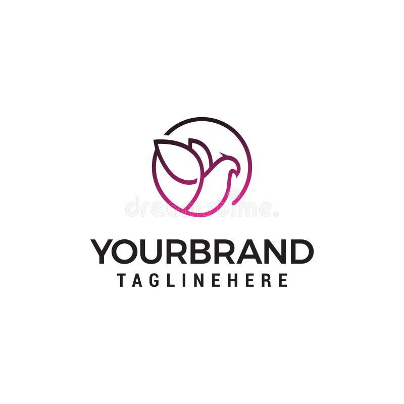 Molde elegante do conceito de projeto do logotipo da pomba ilustração do vetor