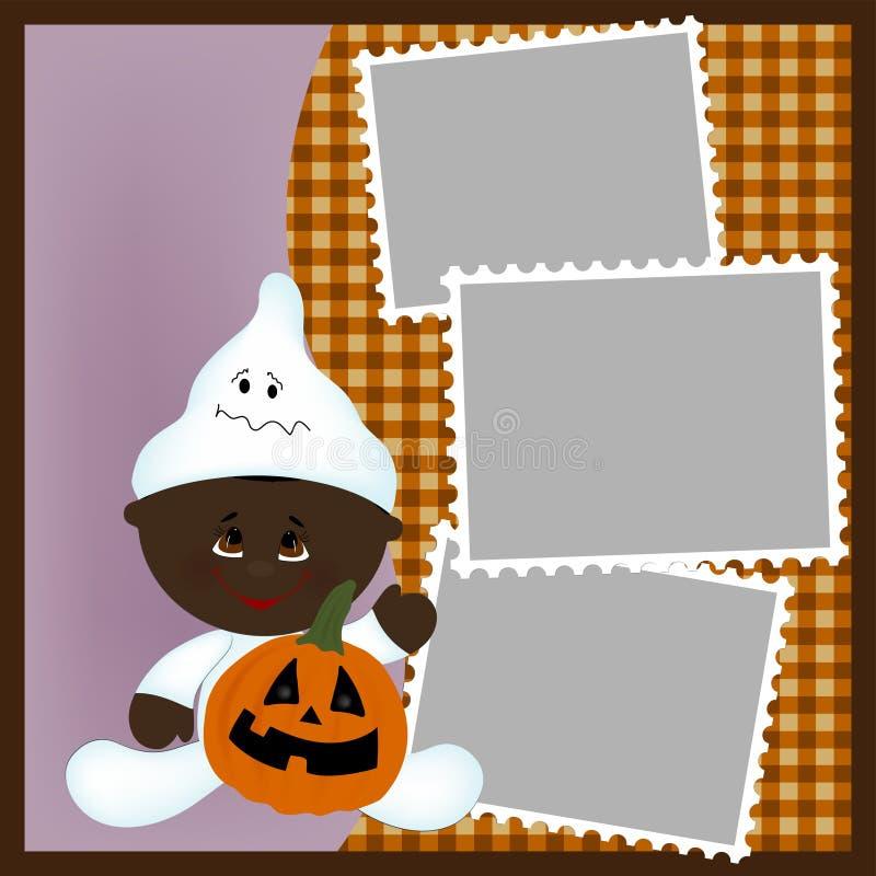 Molde em branco para o frame da foto de Halloween ilustração royalty free