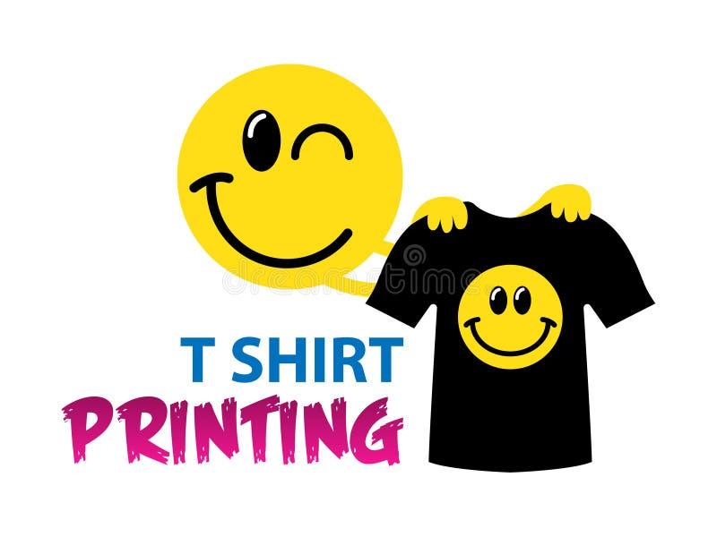 Molde engraçado do logotipo do vetor da impressão do t-shirt Para a tipografia, cópia, identidade corporativa, oficina, marcando, ilustração stock