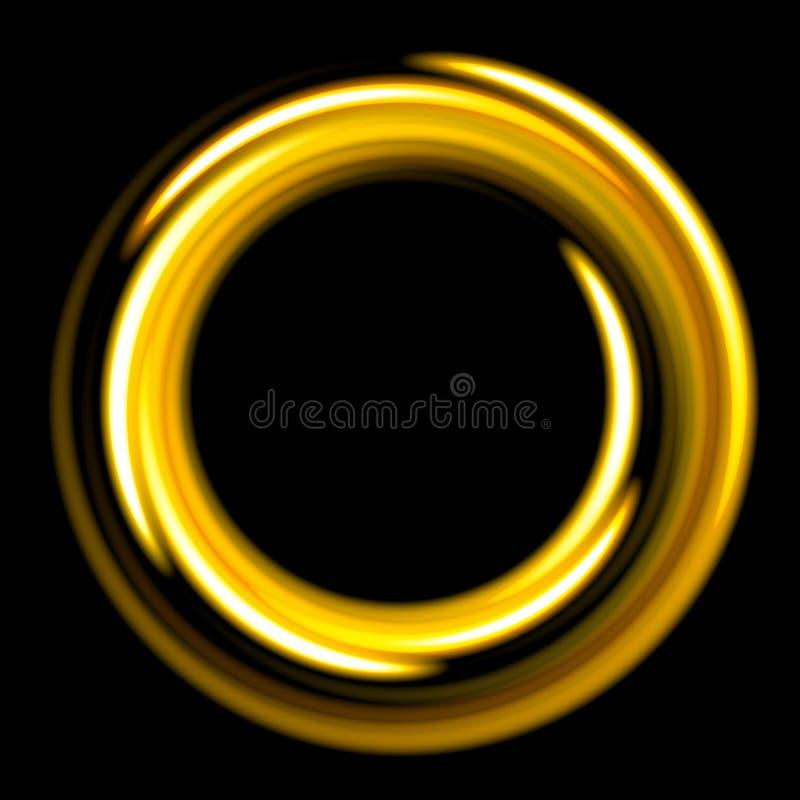 Molde escuro com espirais douradas dos círculos ilustração royalty free