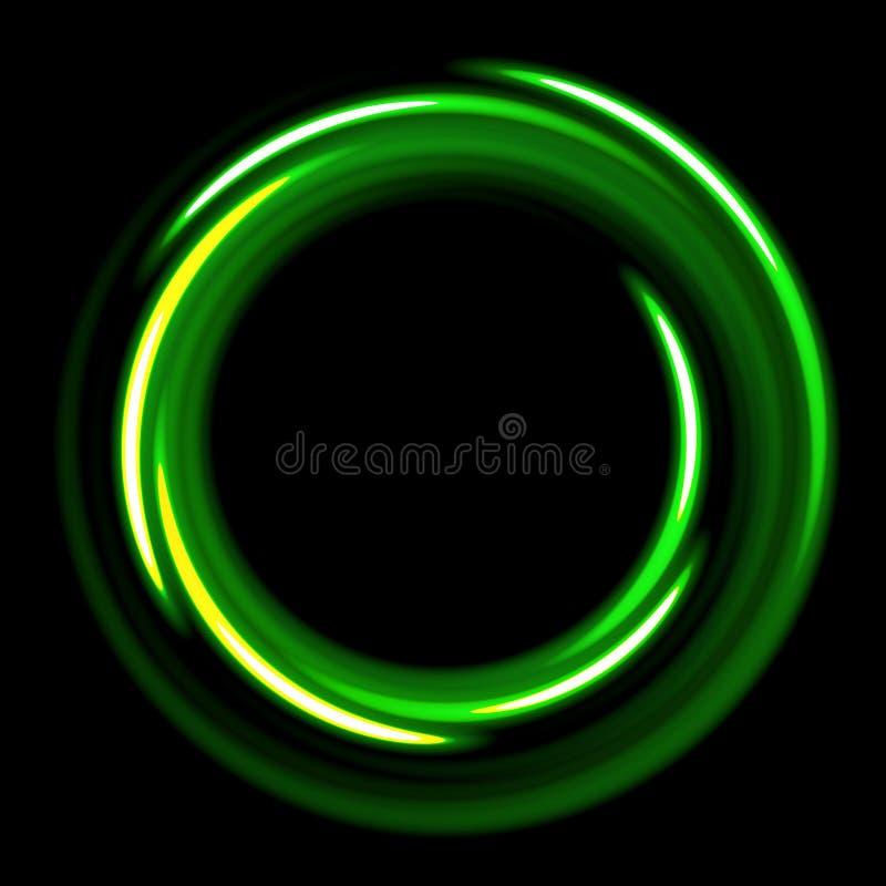 Molde escuro com espirais verdes dos círculos ilustração stock