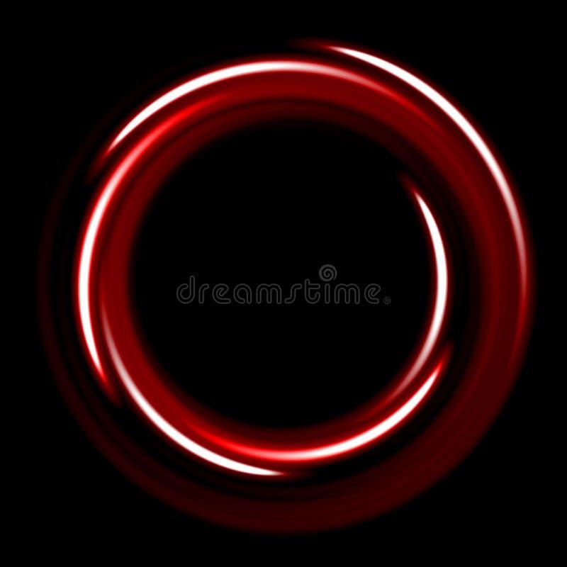 Molde escuro com espirais vermelhas dos círculos ilustração stock