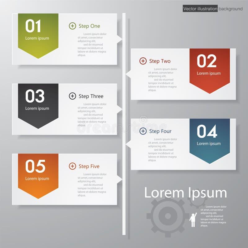 Molde/espaço temporal limpos das bandeiras do número do projeto. ilustração do vetor