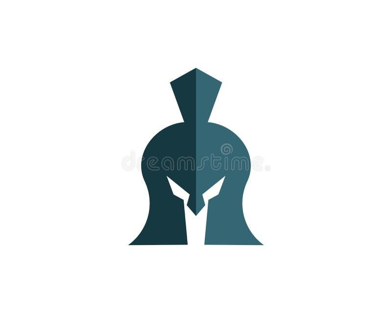 Molde espartano do logotipo do capacete ilustração stock