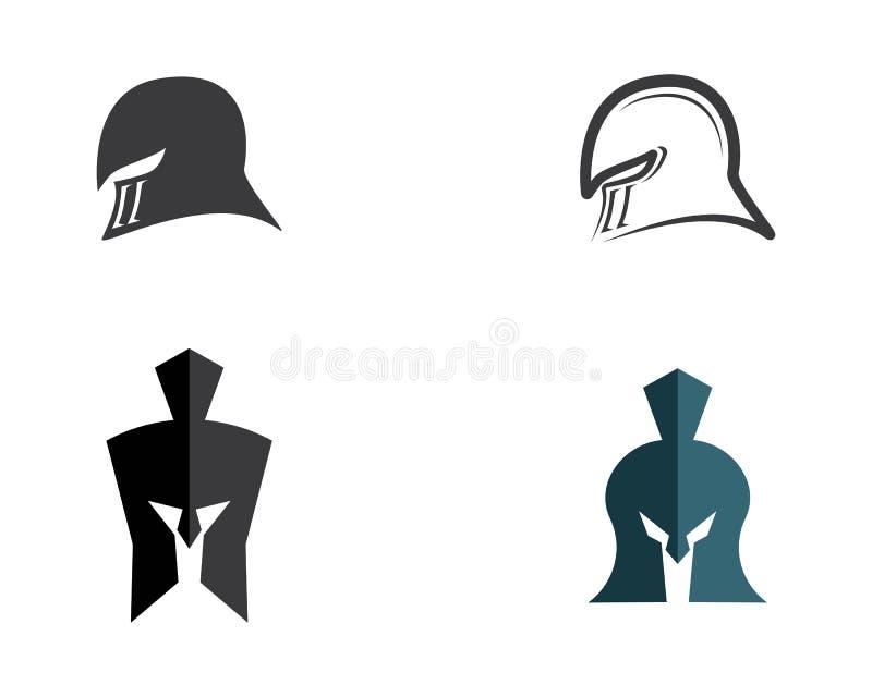 Molde espartano do logotipo do capacete ilustração do vetor