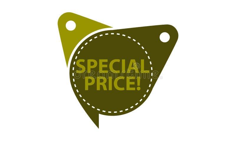 Molde especial do preço isolado ilustração royalty free