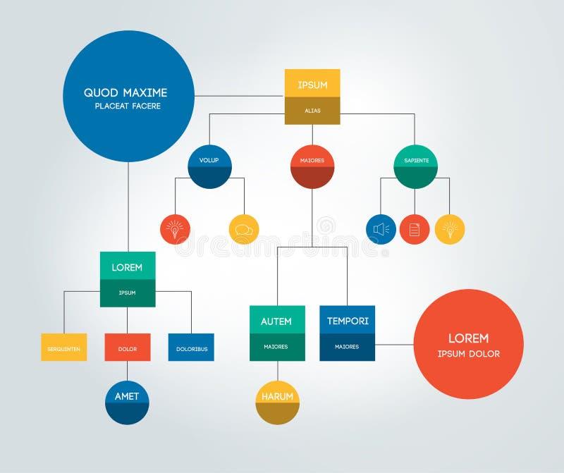 Molde, esquema, diagrama, fluxograma ou infographic ilustração stock