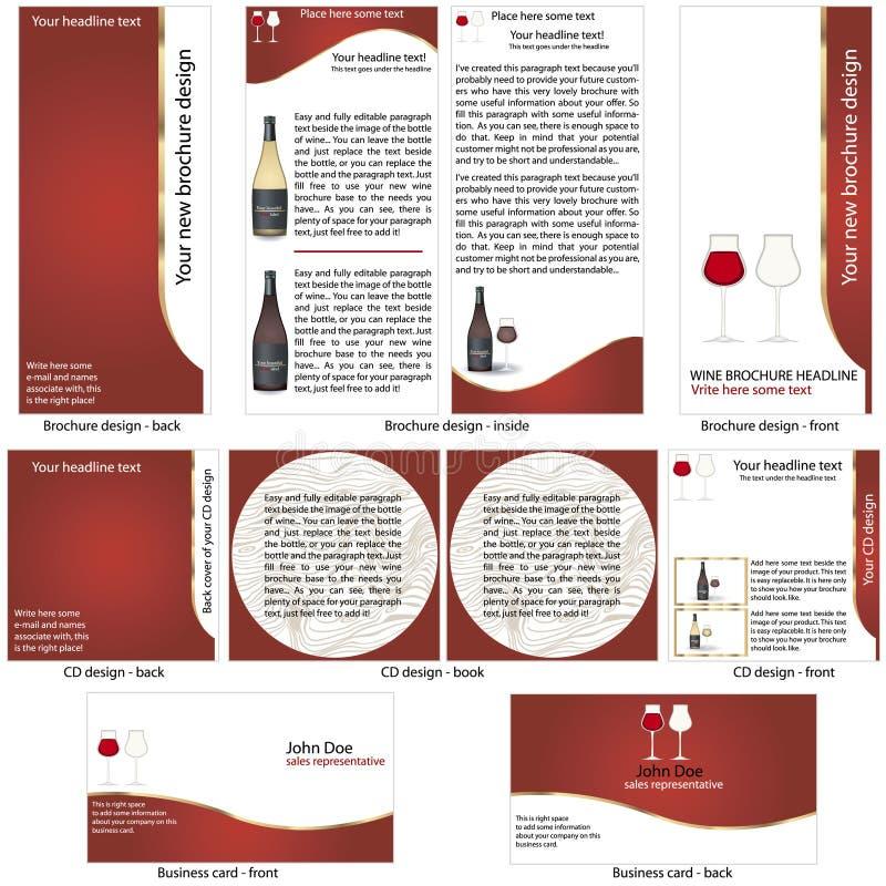 Molde estacionário do vinho ilustração royalty free