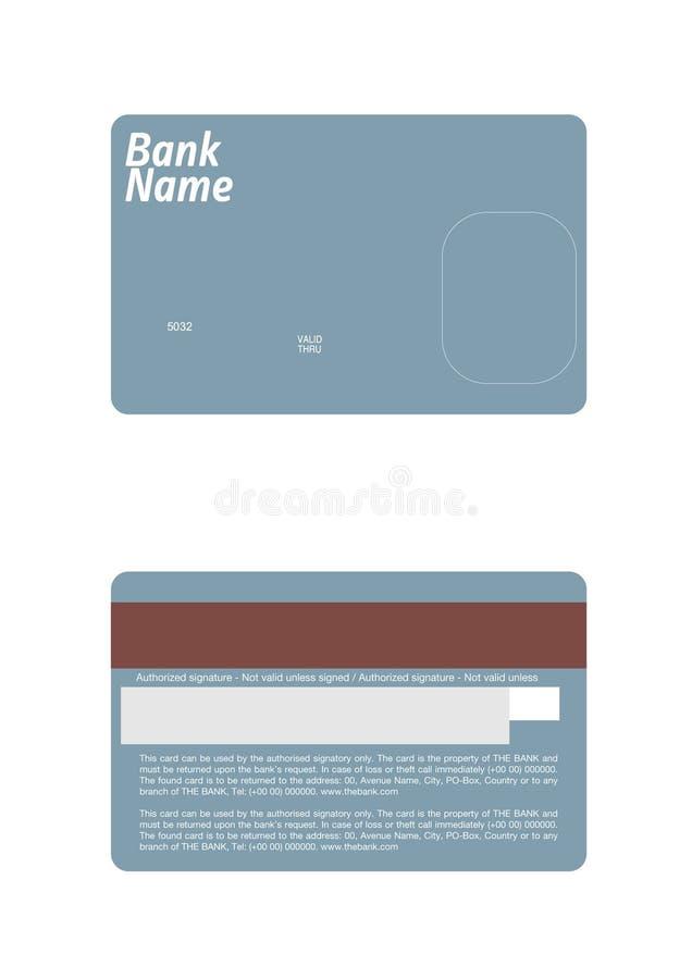 Molde exato do cartão de crédito da dimensão. ilustração royalty free