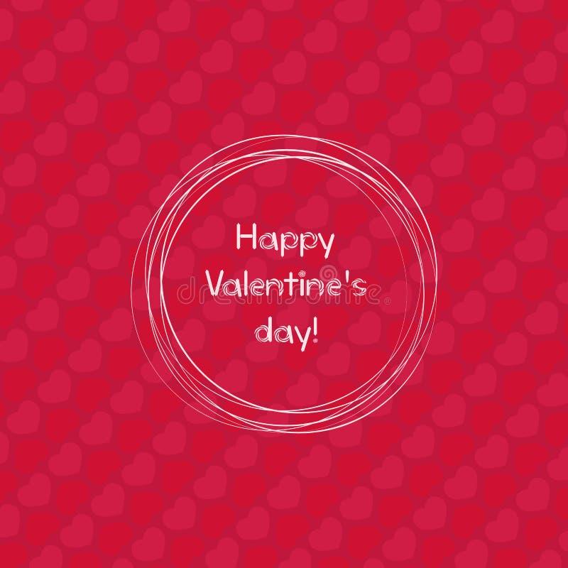 Molde feliz do projeto do dia de Valentim Cartaz do dia do ` s do Valentim ilustração do vetor
