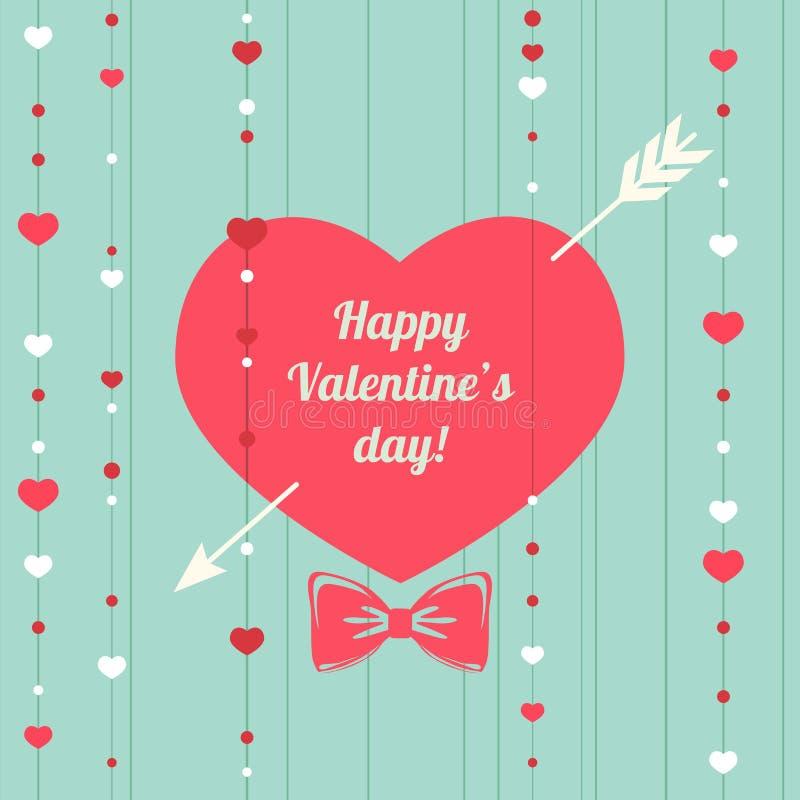 Molde feliz do projeto do dia de Valentim Cartaz do dia do ` s do Valentim ilustração royalty free