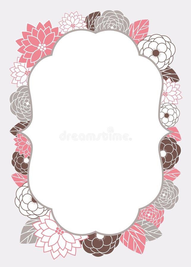 Molde floral do cartão do convite ilustração royalty free