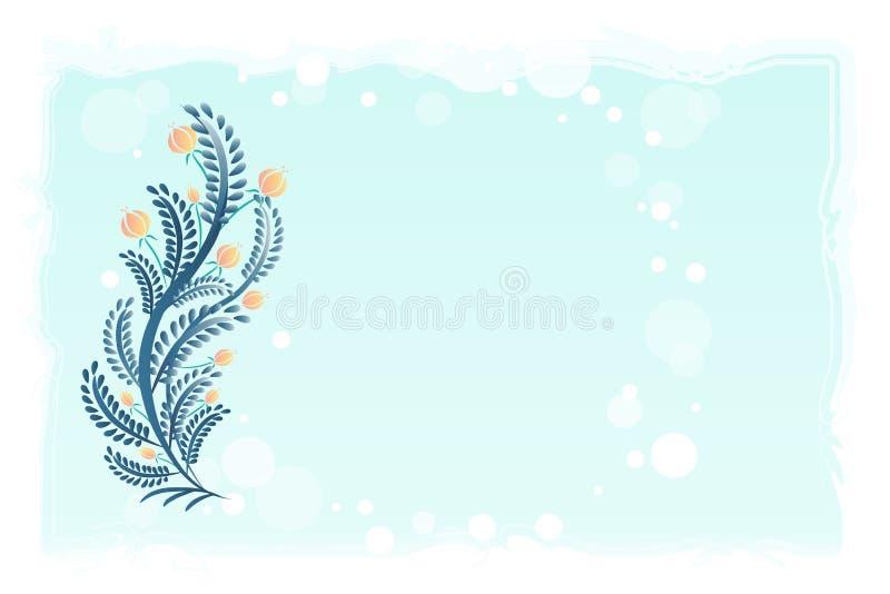 Molde floral do fundo do vetor do vintage ilustração stock