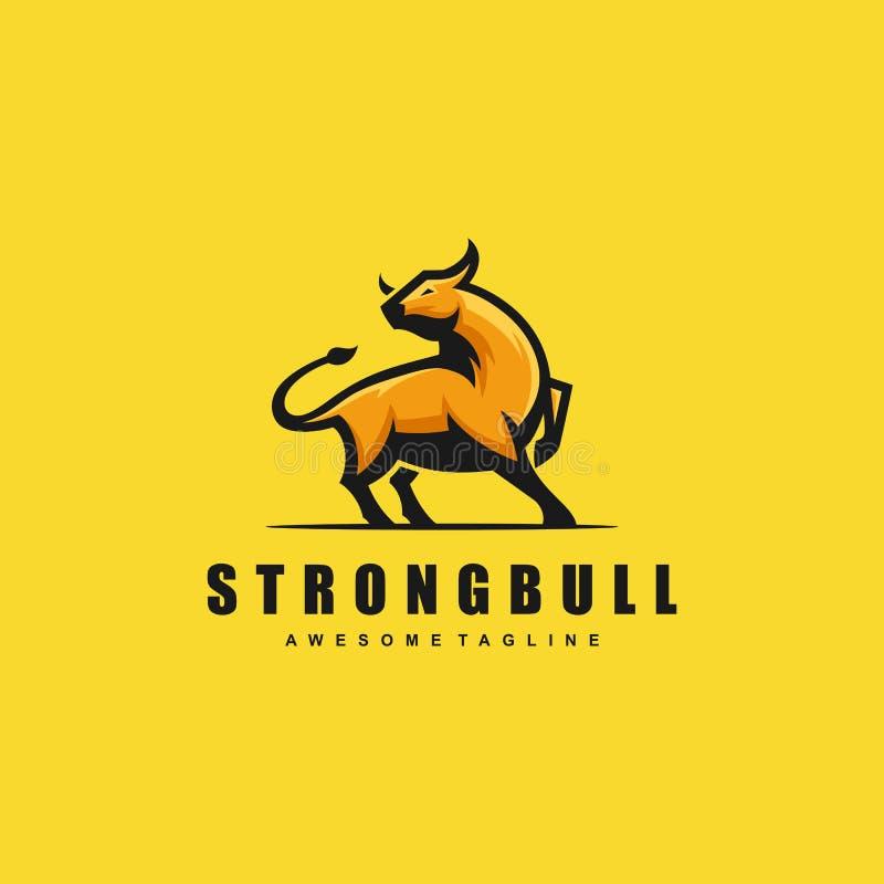 Molde forte do vetor da ilustração do conceito de Bull ilustração royalty free