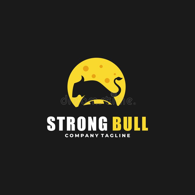 Molde forte do vetor da ilustração dos projetos de Bull do sumário ilustração royalty free